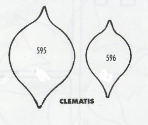 Clematis - set of 2 595/596 (45mm, 35mm).  TinkerTech Two Cutters