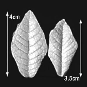 Great Impressions (SK) Leaf Veiners - Cherry-Wild - set of 2.  4cm/3.5cm.  GM01C006-03