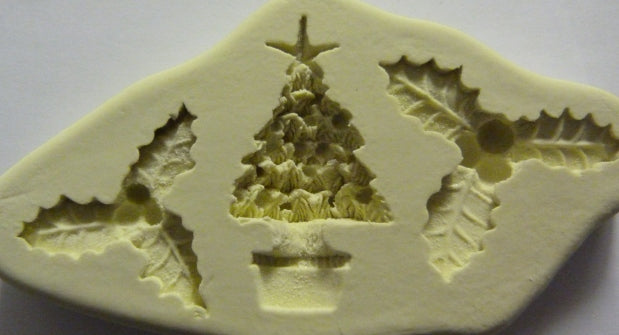 Diamond Paste Moulds - Holly/Xmas Tree