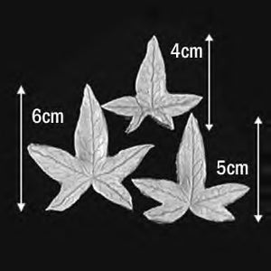 Great Impressions (SK) Leaf Veiners - Ivy-Birdsfoot - set of 3 6cm/5cm/4cm GM01I02-03