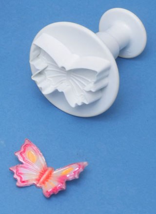PME Cutters - Butterfly.  Veined Plunger Cutter  small 30mm