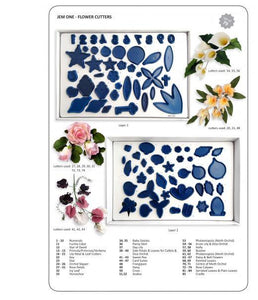 80 Flower Cutters (dark blue) Boxed set 1.  Jem Cutters