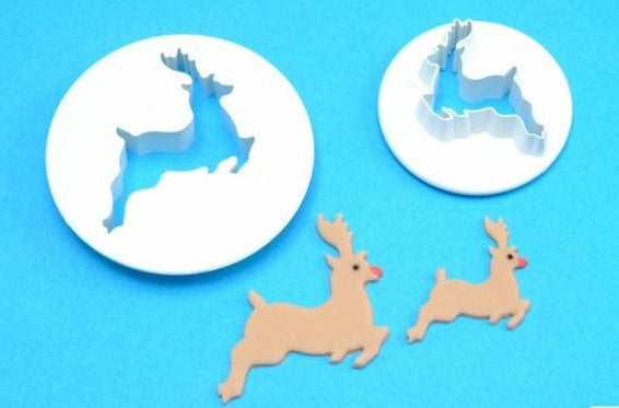 PME Cutters - Reindeer set of 2 Small and Medium.