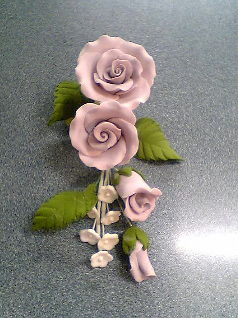 Sugar Flowers - Rose Spray Small