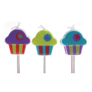 Candles - Cupcakes. Pack of 6