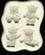 Diamond Paste Moulds - Teddy Bears Picnic 4