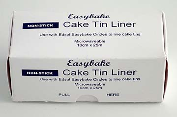 Cake Tin Liner.  Easy Bake