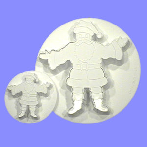 PME Cutters - Father Christmas with Embosser. Set of 2.