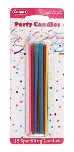 Candles - Sparkling Party Candles pack of 18