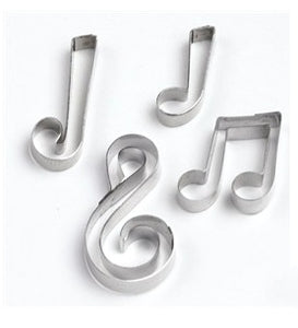 Musical Notes - set of 4 metal cutters
