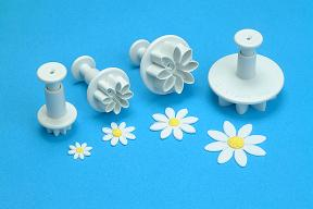 Daisy Marguerite Plunger Cutter Set of 4.  PME Cutters