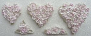 Karen Davies Mould - Piped Rose Hearts