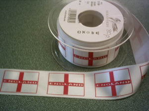 England Flag Ribbon - 35mm