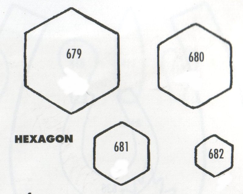 TinkerTech Two Cutters - Hexagonal - set of 4 679/680/681/682 (30mm, 25mm, 17mm, 12mm)