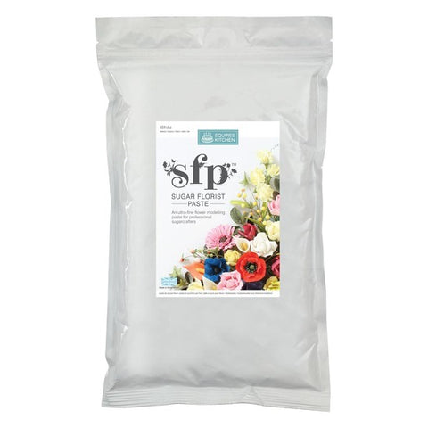 Sugar Florist paste (SFP) - Squires Kitchen - White 1 kilo