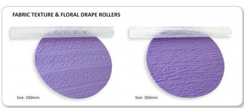 Jem Rolling Pins - Floral Drape and Fabric Texture set of 2