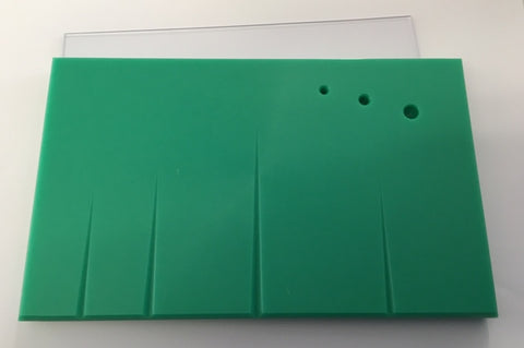"Grooved Non-Stick Board (Pullinger)  8"" x 4.75"" (200 x 120mm) Green"