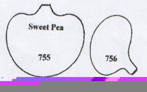 Sweet Pea separate inside petals 755/756 (40mm) TinkerTech Two Cutters