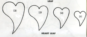Heart Leaves - set of 4 538/539/540/541 (45mm, 35mm, 30mm, 20mm) - TinkerTech Two Cutters