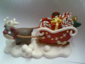 "Reindeer and Sleigh   5""."