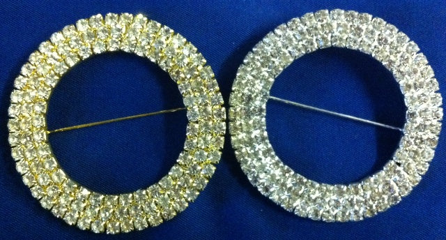 Diamante Brooch - Large Round 3 Row 62mm