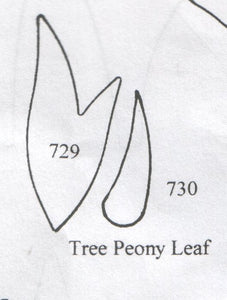 Peony (tree)  Leaf 729/730 (40mm, 27mm) - TinkerTech Two Cutters