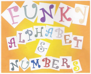 FMM Cutters - Alphabet  Funky Uppercase and Numbers.