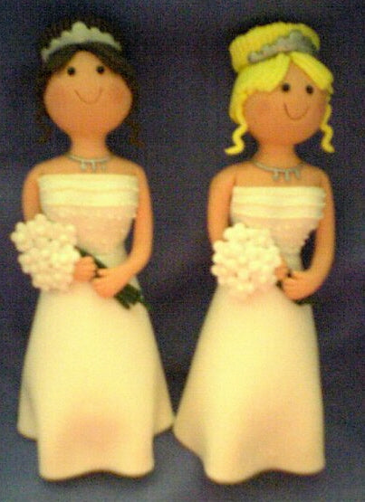 Wedding Topper  - Claydough Bride