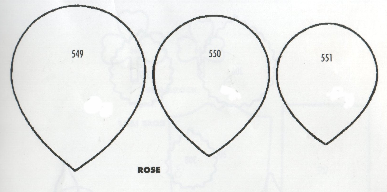 Rose Petals - set of 3 549/550/551 (60mm, 50mm, 45mm)  TinkerTech Two Cutters
