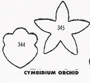 Orchid - Cymbidium 5 petal back 344/345 (24mm).  TinkerTech Two Cutters