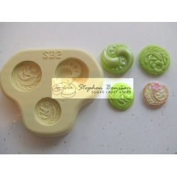 Benison Moulds - Decorative Button Accent (SB2)