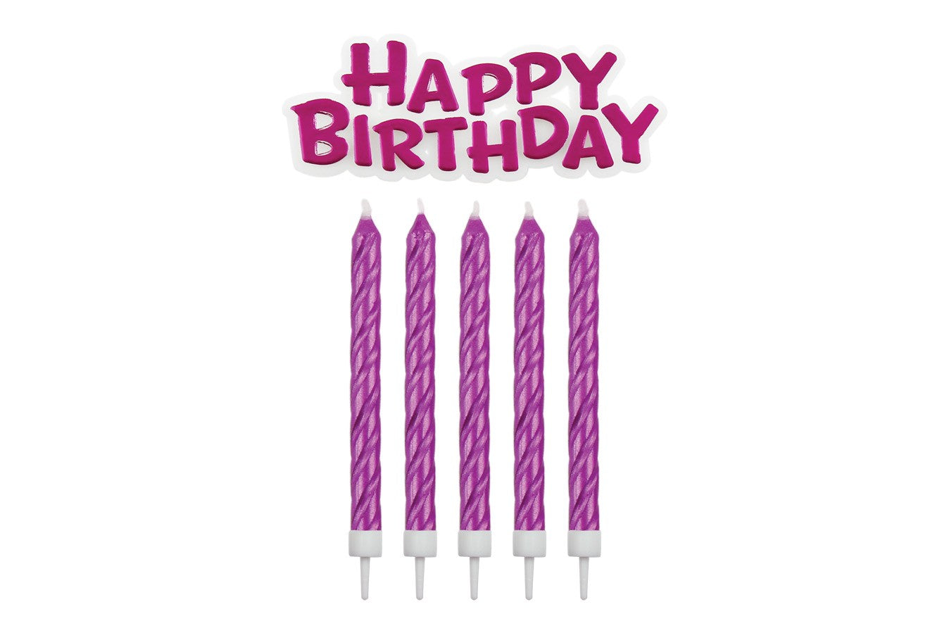 Happy Birthday Candle and Motto set - Pink - PME