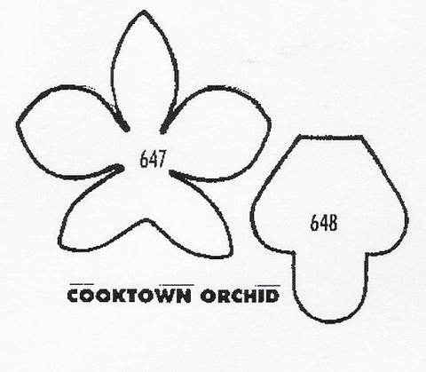 Orchid - Cooktown 647/648 (35mm).  TinkerTech Two Cutters