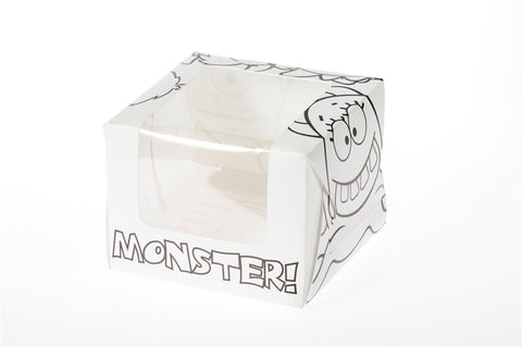 Monster Single Cupcake/Muffin Box.  Pack of 5