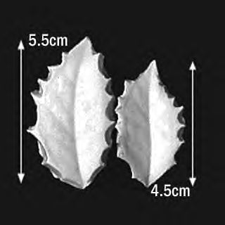 Great Impressions (SK) Leaf Veiners - Holly - set of 2 5.5cm/4.5cm GM01H006-03
