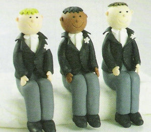 Wedding Topper Claydough - Sitting Grooms