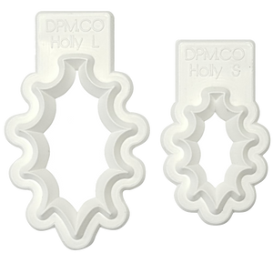 Holly Leaf Cutters set of 2 - Diamond Paste and Mould Co.