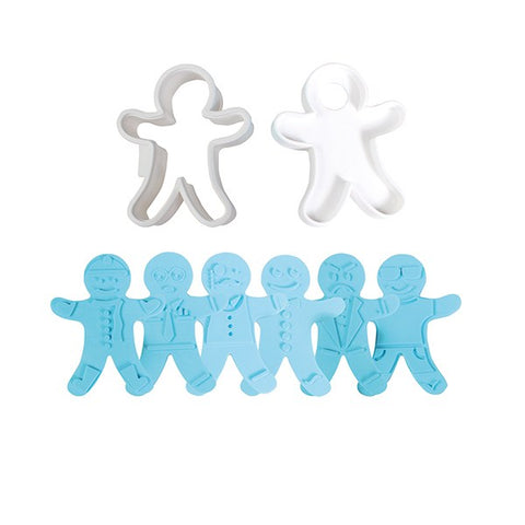 Gingerbread Man Cutter and 3 reversible embossers - 5 pieces by Cake Star