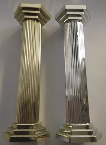 "Hamilworth Plastic Pillars 5"" - Silver  or Gold pack of 4"
