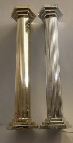 "Hamilworth Plastic Pillars 7"" - Silver or Gold pack of 4"