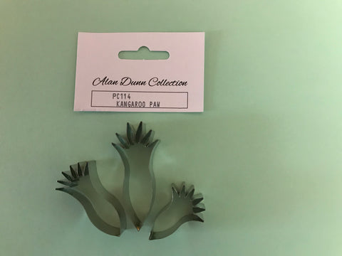 Kangaroo Paw Cutters Set of 3 (designed by Alan Dunn) - Framar Cutters. PC114