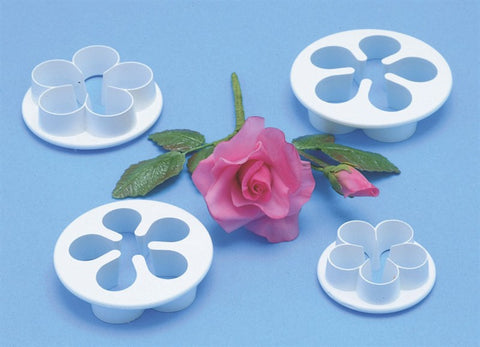 5 Petal Blossom Cutter. set of 3. 75mm, 65mm, 57mm. PME Cutters