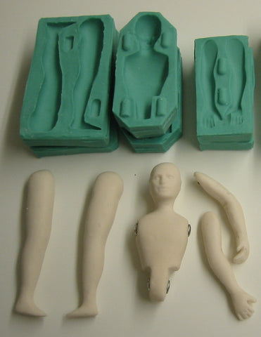 Coronet Figurine moulds - Male (1/12th scale)