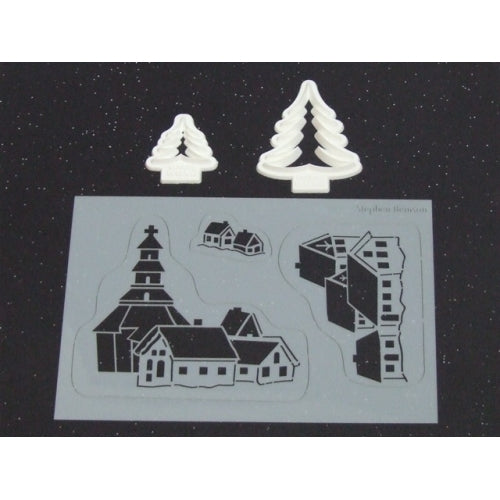 Benison Stencil and Cutter set - Winter Village