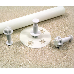 PME Cutters - Mini Snowflake Plunger Cutter - 3 Set