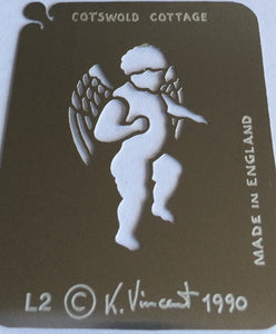 Stainless Steel Stencil - Cupid Cameo Set SALE
