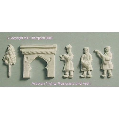Hawthorne Hill Moulds - Arabian Nights 2 - Musicians & Arch