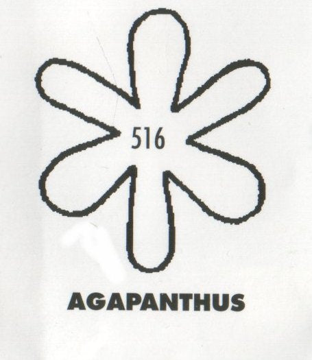 Agapanthus 516 (32mm).  TinkerTech Two Cutters
