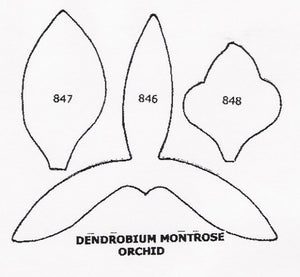 Orchid - Dendrobium Montrose 846/847/848 (35mm).  TinkerTech Two Cutters