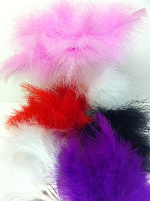 Feathers - Marabou.  Wired